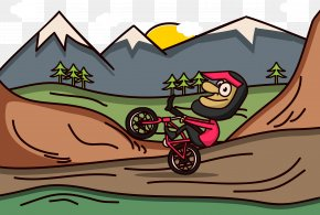 Adventure Movement Speed Bike Outdoors - Bicycle Cycling Outdoor Recreation Illustration PNG