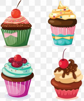 Cake - Holiday Cupcakes Muffin Bakery Clip Art PNG