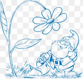 Vector Drawing Dwarf - Drawing Euclidean Vector Gnome Clip Art PNG