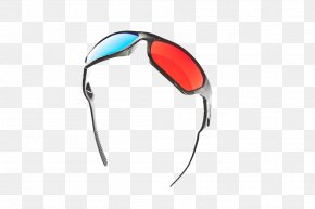 Color 3D Glasses - Goggles Glasses Silhouette PNG
