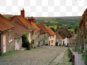 England Charming Scenery Five - Jurassic Coast Salisbury Lyme Regis Gold Hill, Shaftesbury PNG