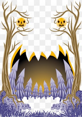 Vector Halloween Background - Euclidean Vector Clip Art PNG