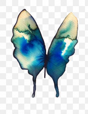 Acuarela - Butterfly Watercolor Painting Drawing Turquoise PNG
