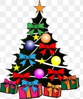 Vector Christmas Tree - Santa Claus Christmas Tree Color PNG