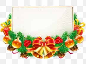 Christmas - Borders And Frames Christmas Decoration Candy Cane Clip Art PNG