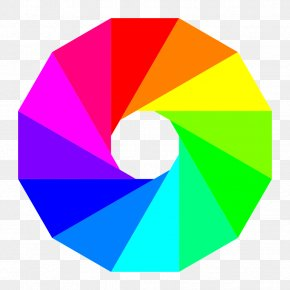 Triangle Design Cliparts - Color Wheel Complementary Colors Clip Art PNG