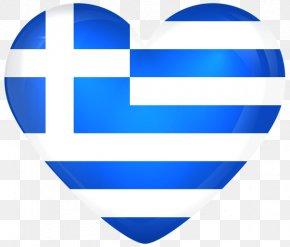 Greece - Flag Of Greece National Flag Heart PNG