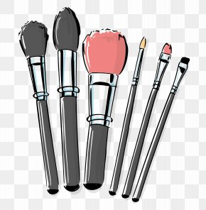 Hand-painted Makeup Brush - Makeup Brush Cosmetics Make-up PNG