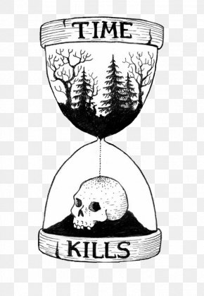 Hourglass - Tattoo Sands Of Time Hourglass Drawing Human Skull Symbolism PNG
