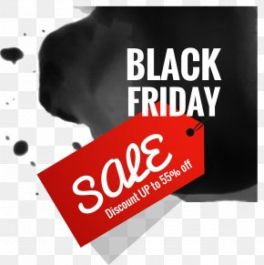 Vector Hand-painted Label Black Friday - Black Friday Cyber Monday Sales Stock Photography PNG