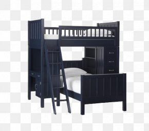Bed - Bed Frame Bunk Bed Bedroom Desk PNG