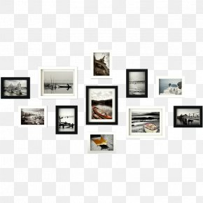 Picture Frame Wall Hanging - Picture Frames Photography Black And White Image PNG