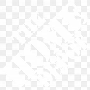 HomeDepot White Logo - Line Black And White Angle Point Pattern PNG