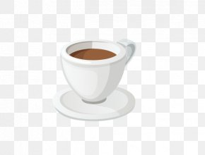 White Coffee Cup - White Coffee Ristretto Espresso Coffee Cup PNG
