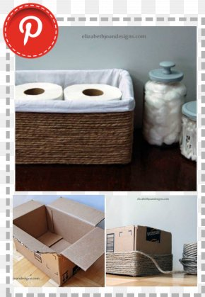 Diy Album - Basket Cardboard Box Do It Yourself Bathroom PNG