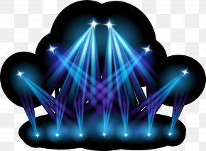 Blue Stage Lights - Stage Lighting Special PNG