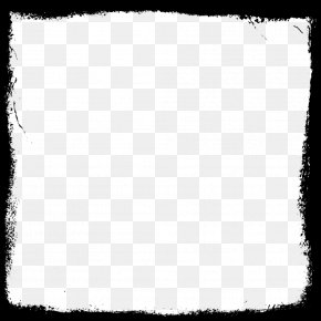 Square Frame Picture - Black And White Square Pattern PNG