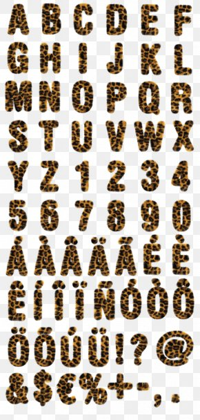 Leopard Print Font - Leopard Wingdings Typography DaFont Font PNG