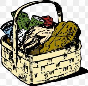 Cartoon Food Clipart - Basket Food Clip Art PNG