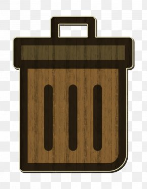 Rectangle Wood - Garbage Can Icon General Icon Office Icon PNG