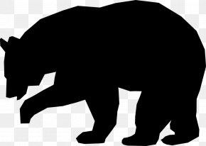 Bear - American Black Bear Silhouette Clip Art PNG