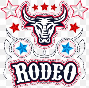 Vector Bull T-shirt Printing - Rodeo Cowboy Bull Riding Sandstone Point Hotel PNG