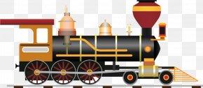 Train - Train Rail Transport Passenger Car Steam Locomotive PNG