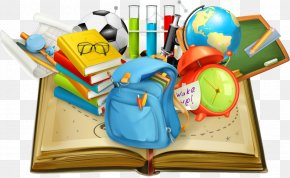 School Supplies Vector In Books - Student School Teacher Education PNG