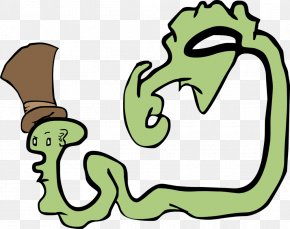 Ooze - Reptile Human Behavior Line Art Cartoon Clip Art PNG