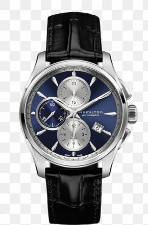 Hamilton Watches Male Table Mechanical Watch Blue - Fender Jazzmaster Hamilton Watch Company Chronograph Strap PNG