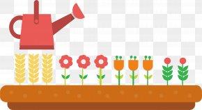 Kettle Flowers - Water Bottle Clip Art PNG