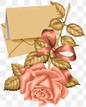 Rose Label - Paper Label Clip Art PNG