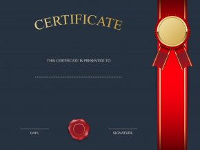 Blue Certificate Template Image - Template Clip Art PNG