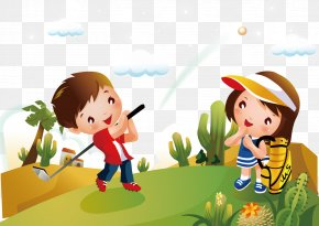 Golf - Golf Cartoon Child Clip Art PNG