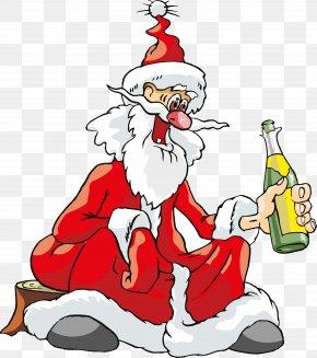 Cartoon Santa Claus - Santa Claus Christmas Tree Ded Moroz Clip Art PNG