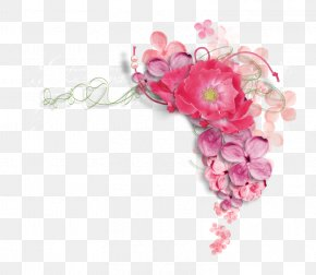 Pink Peony - Flower Picture Frame Clip Art PNG