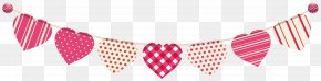 Heart Streamer Clip Art Image - Heart Stock Illustration Clip Art PNG