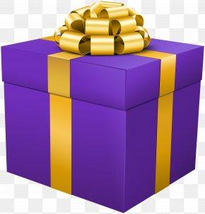 Purple Gift Box Clip Art Image - Box Gift Clip Art PNG