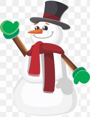 Vector Snowman Flat - T-shirt Snowman Doll Euclidean Vector PNG
