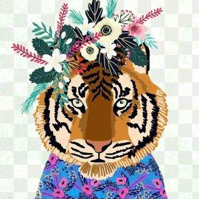 Tiger With Garlands - IPhone 8 Plus IPhone X U5192u96aau8005u5011 Samsung Galaxy Note 8 PNG