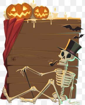 Vector Black Hat Skull - Halloween Cake Birthday Clip Art PNG