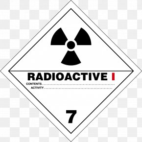 Text Label - HAZMAT Class 7 Radioactive Substances Dangerous Goods Placard Label Specific Activity PNG