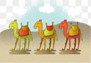 Vector Egyptian Desert Camel - Camel Desert Euclidean Vector Illustration PNG