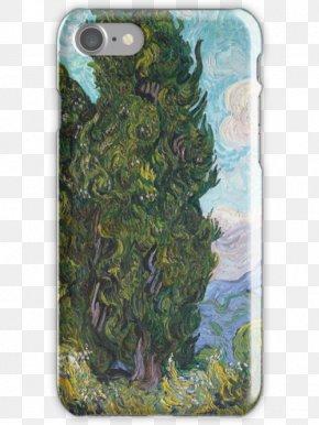 Van Gogh - Cypresses Van Gogh Self-portrait Kröller-Müller Museum Painting Post-Impressionism PNG