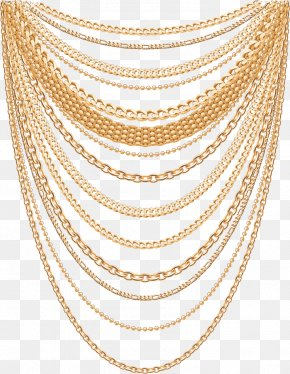 Vector Gold Necklace - Earring Necklace Jewellery Fashion Accessory PNG