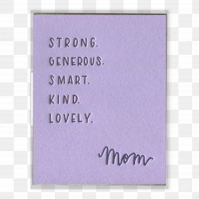 Mother Card - Wedding Invitation Paper Greeting & Note Cards Letterpress Printing Gift PNG