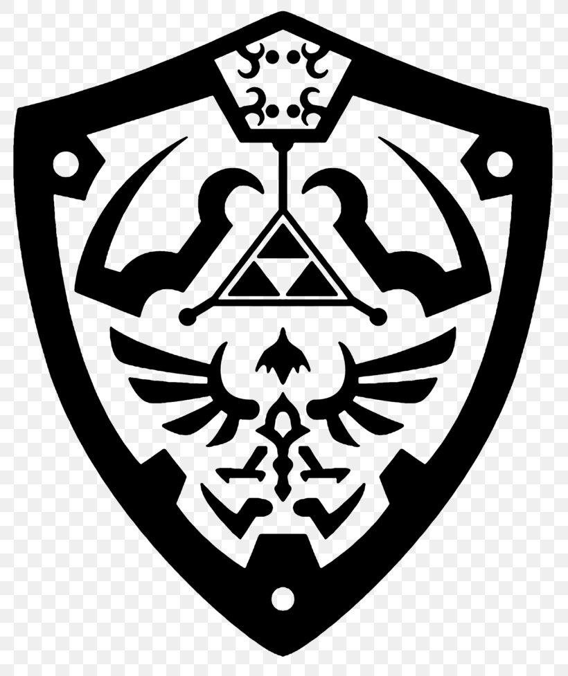 Princess Zelda Shield The Legend Of Zelda: Skyward Sword Art, PNG, 817x977px, Princess Zelda, Art, Black And White, Deviantart, Emblem Download Free