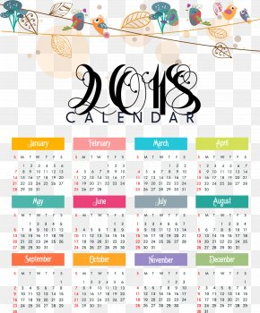 Hand-painted Bird Calendar Template - 365-day Calendar New Year PNG