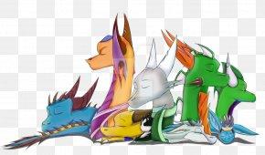 Slumber Party - Dragon Desktop Wallpaper Computer Clip Art PNG