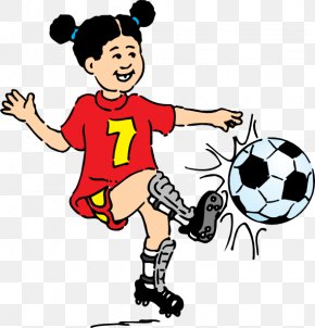 Play Sports Cliparts - Soccer Kick Football Player Clip Art PNG